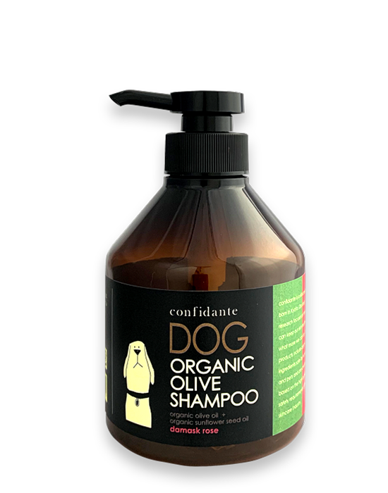 Dog Shampoo olive damask rose
